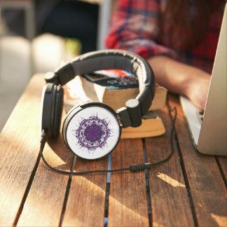 DJ Style Headphones - PURPLE ABSTRACT CIRCLE