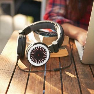 DJ Style Headphones RED/BLACK CIRCLE SUN