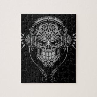 DJ Sugar Skull, dark Jigsaw Puzzle