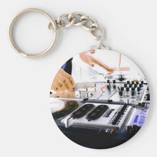 DJ SYSTEM BASIC ROUND BUTTON KEY RING