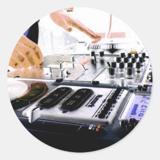 DJ System Round Stickers