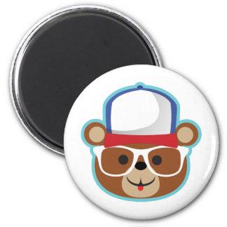 DJ Teddy Eddy 6 Cm Round Magnet