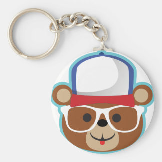 DJ Teddy Eddy Basic Round Button Key Ring