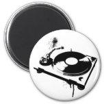 DJ Turntable 6 Cm Round Magnet