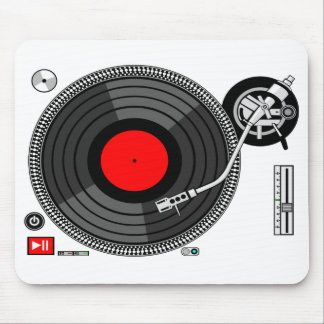 Dj Turntable Background Mousepad
