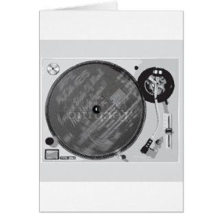 DJ Turntable Card