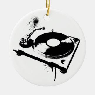 DJ Turntable Christmas Ornament