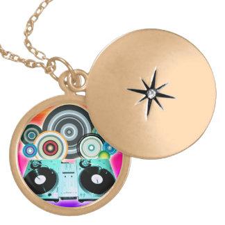 DJ Turntable Circles Locket