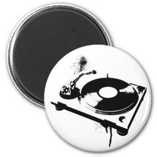 DJ Turntable Fridge Magnet