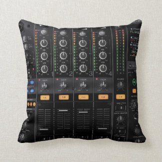 dj turntable mixer pillow