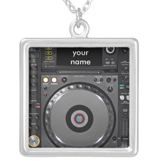 DJ turntable necklace