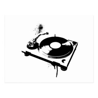 DJ Turntable Postcard