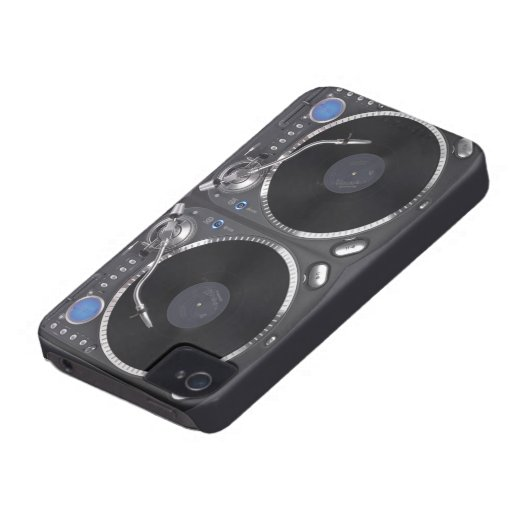 DJ Turntable VOL2 iPhone 4 Case-Mate Case