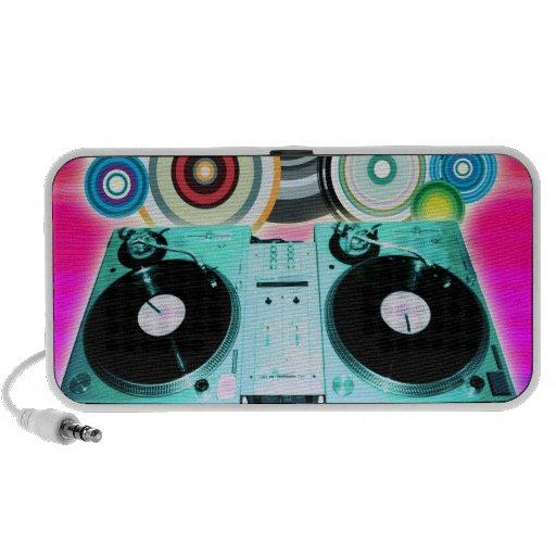 DJ Turntable with Vinyl - Pop Art iPod Speakers