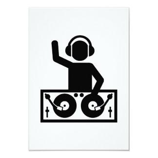 "DJ Turntables 3.5"" X 5"" Invitation Card"