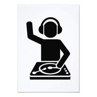 DJ Turntables 3.5x5 Paper Invitation Card
