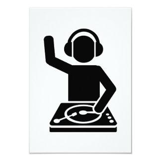 DJ Turntables 9 Cm X 13 Cm Invitation Card