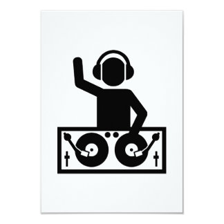 DJ Turntables 9 Cm X 13 Cm Invitation Card