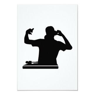 DJ Turntables club music 3.5x5 Paper Invitation Card