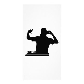 DJ Turntables club music Picture Card