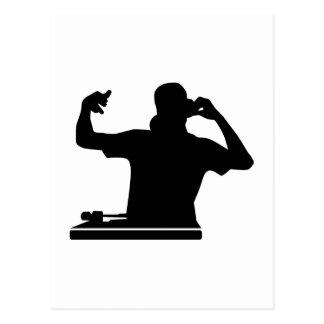 DJ Turntables club music Postcard