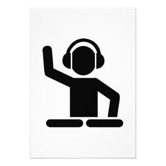 DJ Turntables Personalized Invite