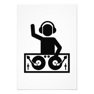 DJ Turntables Invite