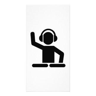 DJ Turntables Photo Card