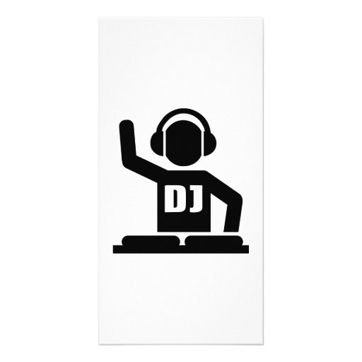 DJ Turntables Picture Card