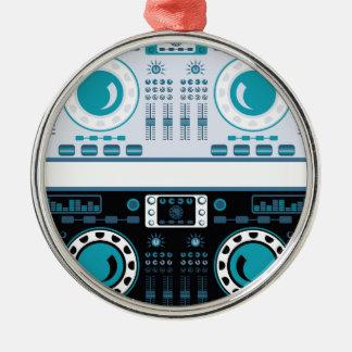 DJ Turntables Vector Christmas Ornament