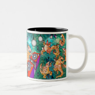 DJ Turntablist Pangolin Two-Tone Coffee Mug