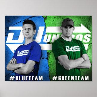 DJ Unpros Blue Team vs Green Team Poster