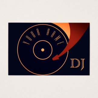 DJ vinyl set illustration cover Business Card