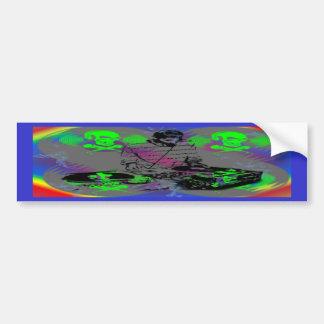 DJ Vinyl Spinner Car Bumper Sticker