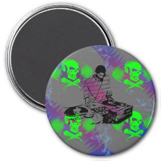 DJ Vinyl Spinner Refrigerator Magnet