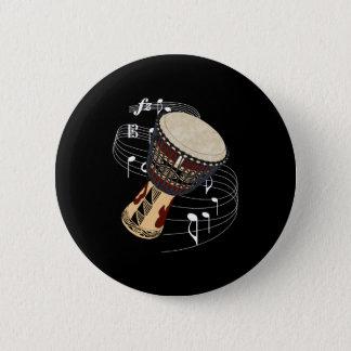 Djembe 6 Cm Round Badge