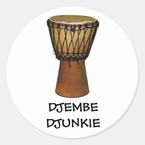 DJEMBE DJUNKIE stickers