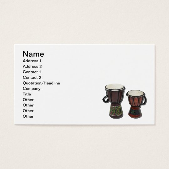 Djembe Drums Business Card