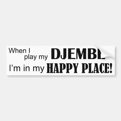 Djembe Happy Place Bumper Stickers