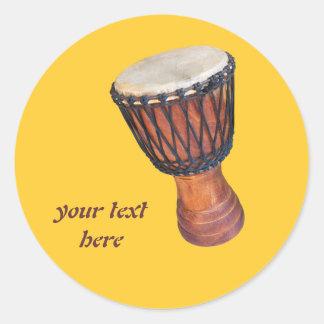 djembe round sticker