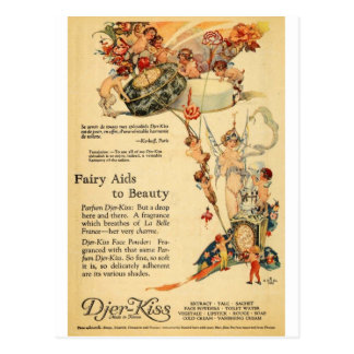 Djer Fairy Aid French Perfume Postcard