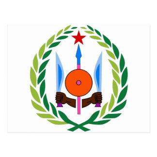 Djibouti Coat of arms DJ Postcard