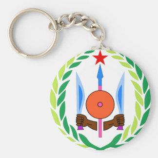 Djibouti Coat of Arms Keychain