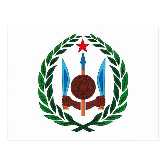 Djibouti Coat of Arms Postcard