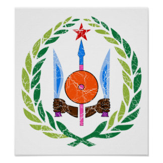 Djibouti Coat Of Arms Poster