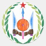 Djibouti Coat Of Arms Round Sticker