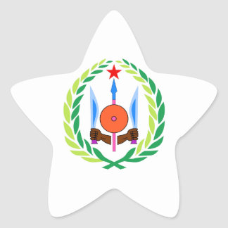 Djibouti Coat of Arms Star Stickers