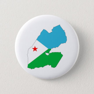 djibouti country flag map shape silhouette symbol 6 cm round badge