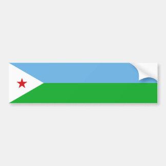 Djibouti Flag Bumper Sticker