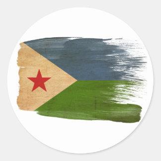 Djibouti Flag Classic Round Sticker